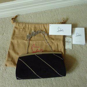 Christian Louboutin Palmette Suede Logo Clutch Bag